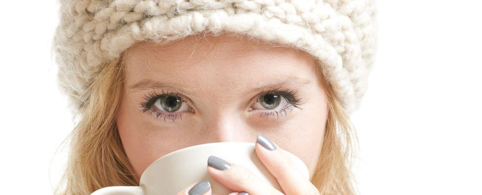 donna bevanda anti-freddo