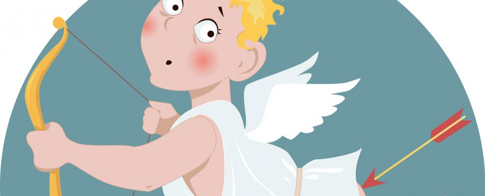 anti San Valentino Cupido freccia sedere