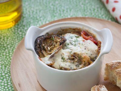 Parmigiana di cipolle al sapore di finocchio
