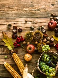 La frutta autunnale del buonumore