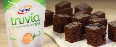 Torta brownies senza zucchero Truvia
