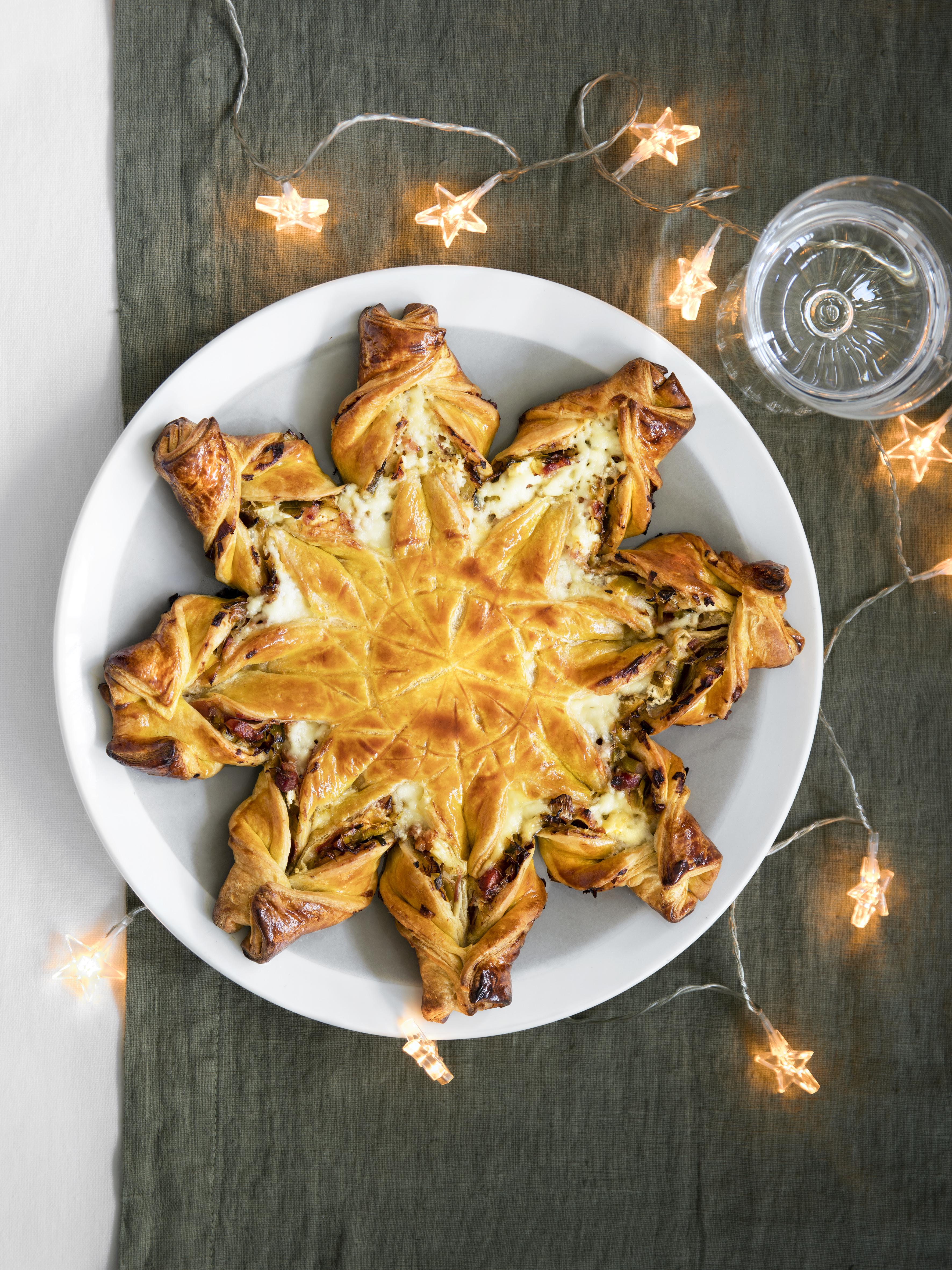 Torta Salata Stella Di Natale.Torta Salata Stella Di Natale Con Pancetta Affumicata