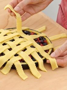 Come decorare la crostata con le strisce di pasta frolla