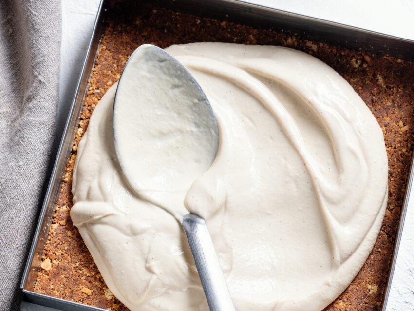 ciocco cheese cake con caffè e nocciole