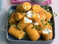 paccheri fritti con mozzarella di bufala