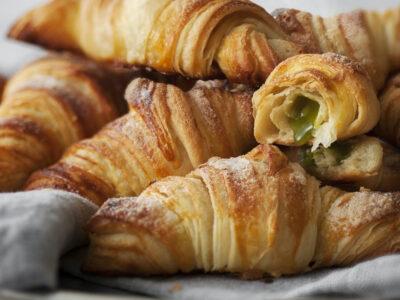 Croissant alla francese al pistacchio
