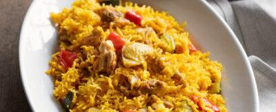 riso africa con pollo e spezie