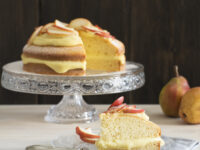 Torta margherita con crema e pasticceria