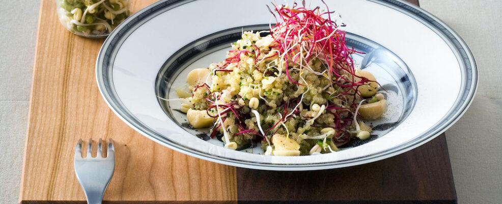 Quinoa con broccoli e zenzero