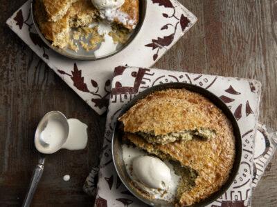 Tortine bretoni con gelato alla vaniglia