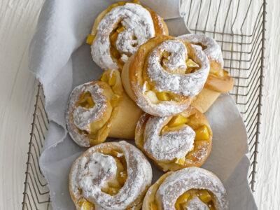 Spirali briosciate al mango e zenzero