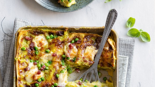 lasagne taleggio salame
