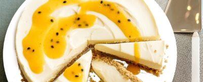 Cheese cake al cioccolato bianco e frutto della passione
