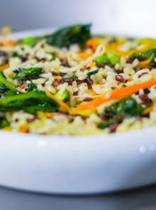 Zizzania di riso bianco, venere e integrale
