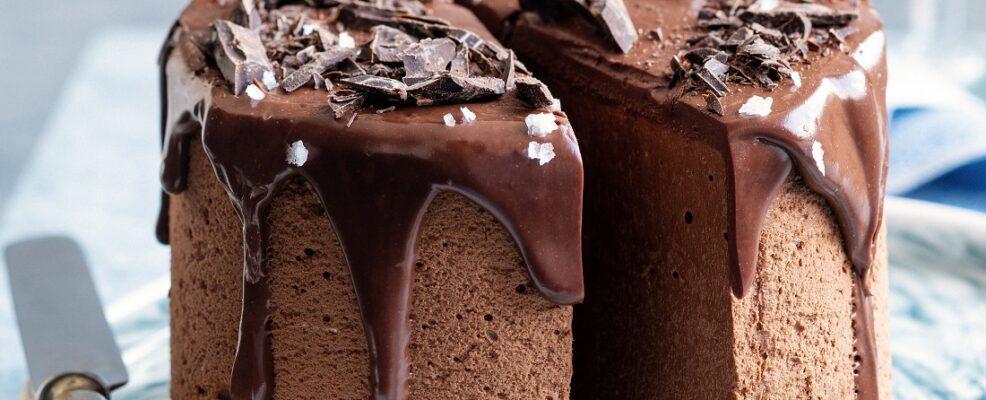 Mousse cake con ganache al fleur de sel