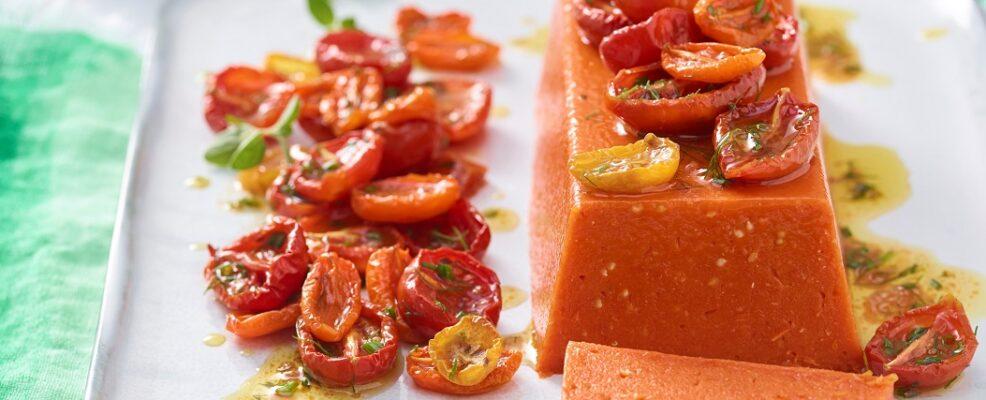 Terrina di pomodori con pomodorini confit