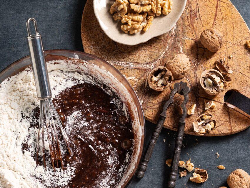 Brownies marmorizzati con latte condensato e noci