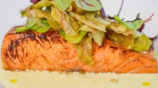 Trancio di salmone al profumo di curry